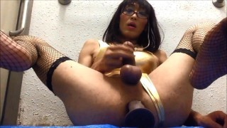 Mature slut cd Mariko loves dildo fuck. screenshot 5